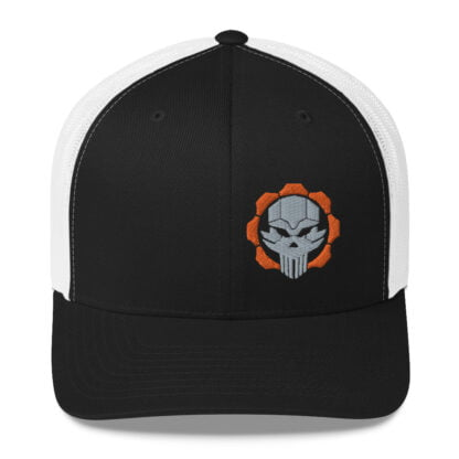 Tactical 512 Mid Profile Trucker Hat, Black/White