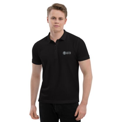 Tactical 512 Men's Premium Embroidered Black Polo Shirt
